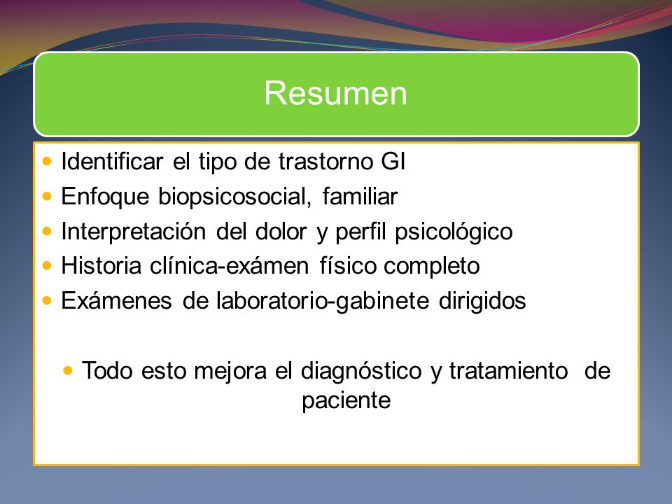 Todo esto mejora el diagnóstico y tratamiento de paciente