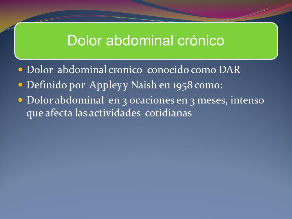 Dolor abdominal crónico