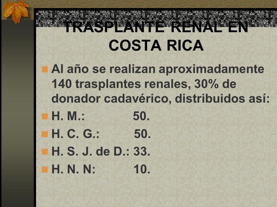 TRASPLANTE RENAL EN COSTA RICA