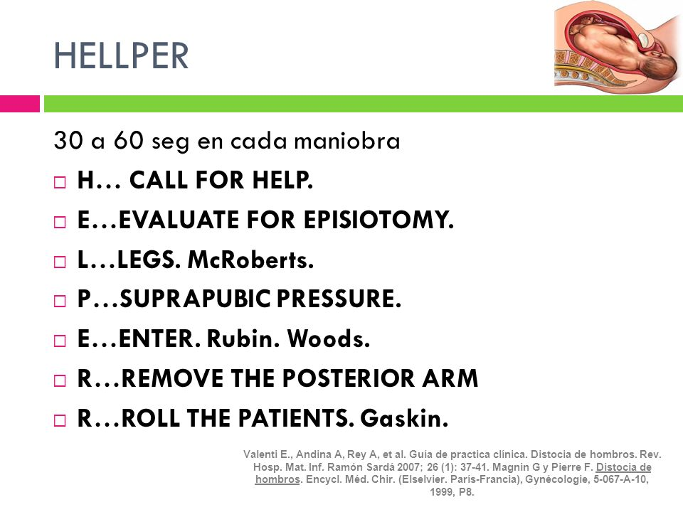 HELLPER 30 a 60 seg en cada maniobra H… CALL FOR HELP.