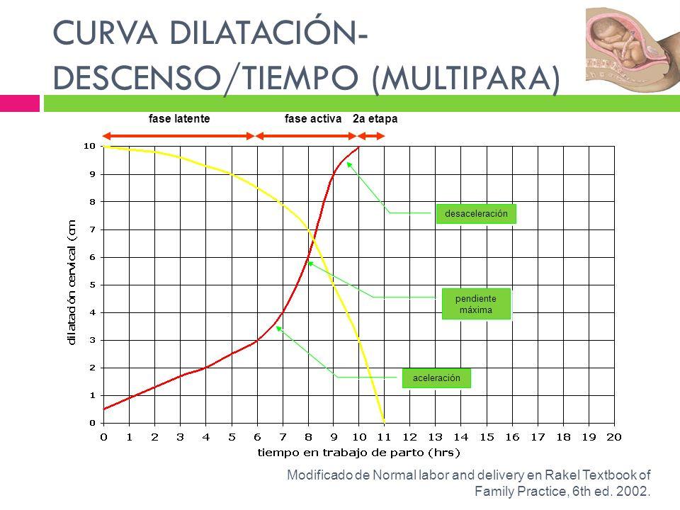 CURVA DILATACIÓN-DESCENSO/TIEMPO (MULTIPARA)