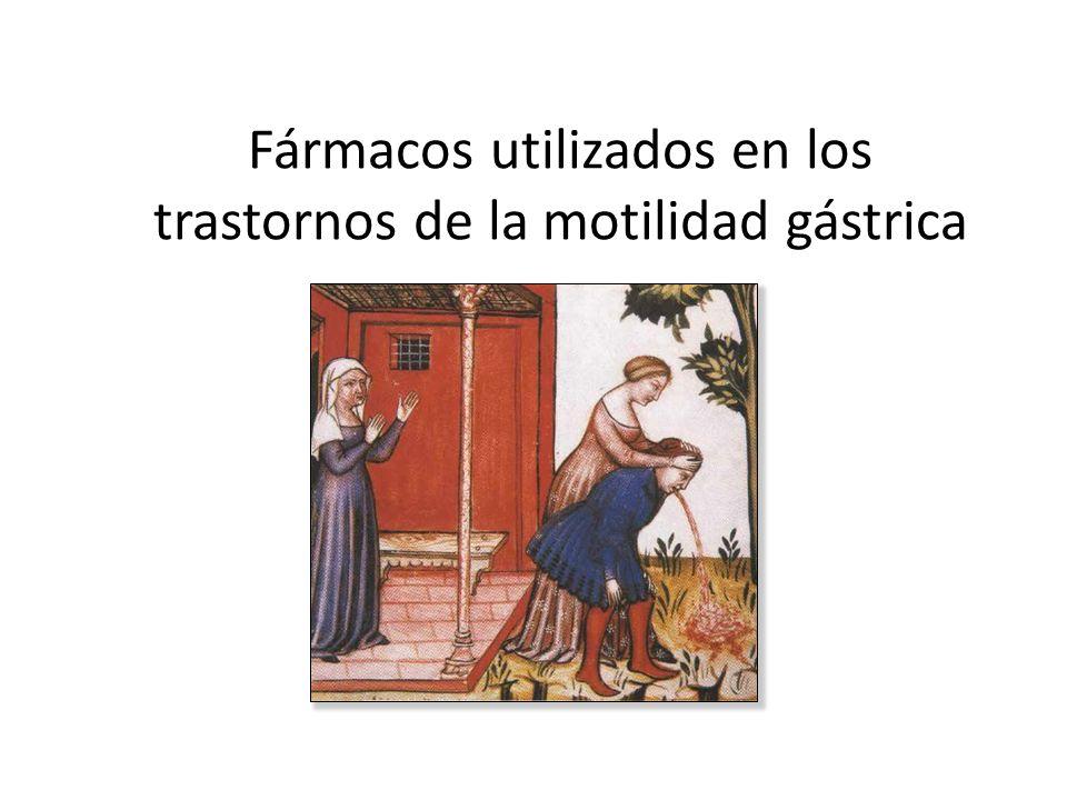 Fármacos utilizados en los trastornos de la motilidad gástrica