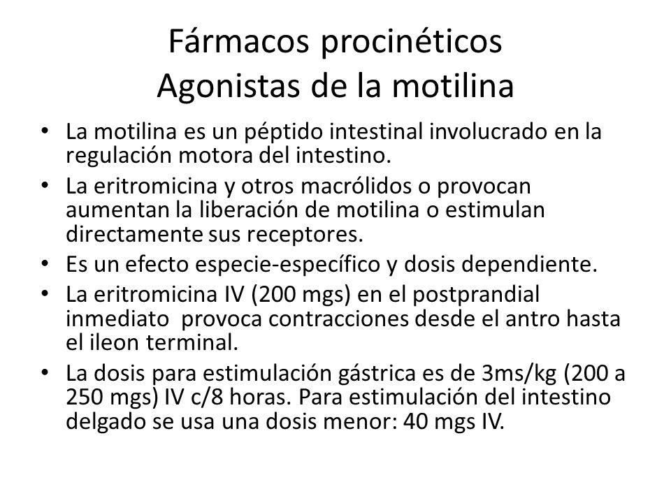 Fármacos procinéticos Agonistas de la motilina