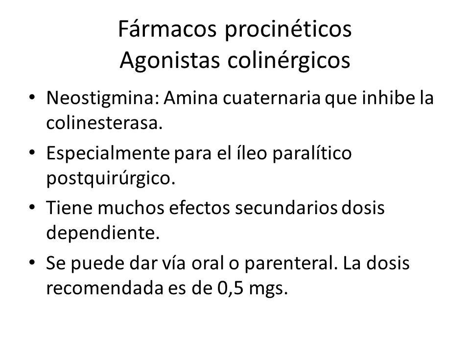 Fármacos procinéticos Agonistas colinérgicos