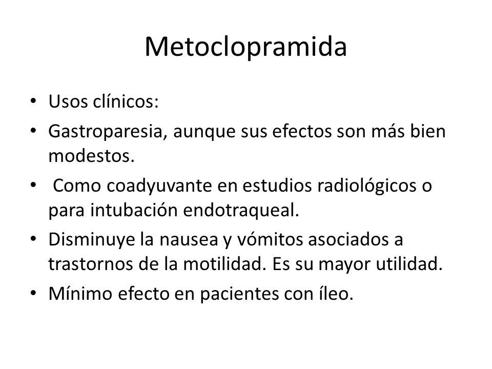 Metoclopramida Usos clínicos: