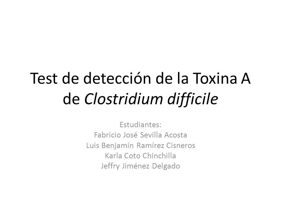 Test de detección de la Toxina A de Clostridium difficile