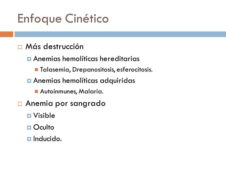 Enfoque Cinético Más destrucción Anemia por sangrado