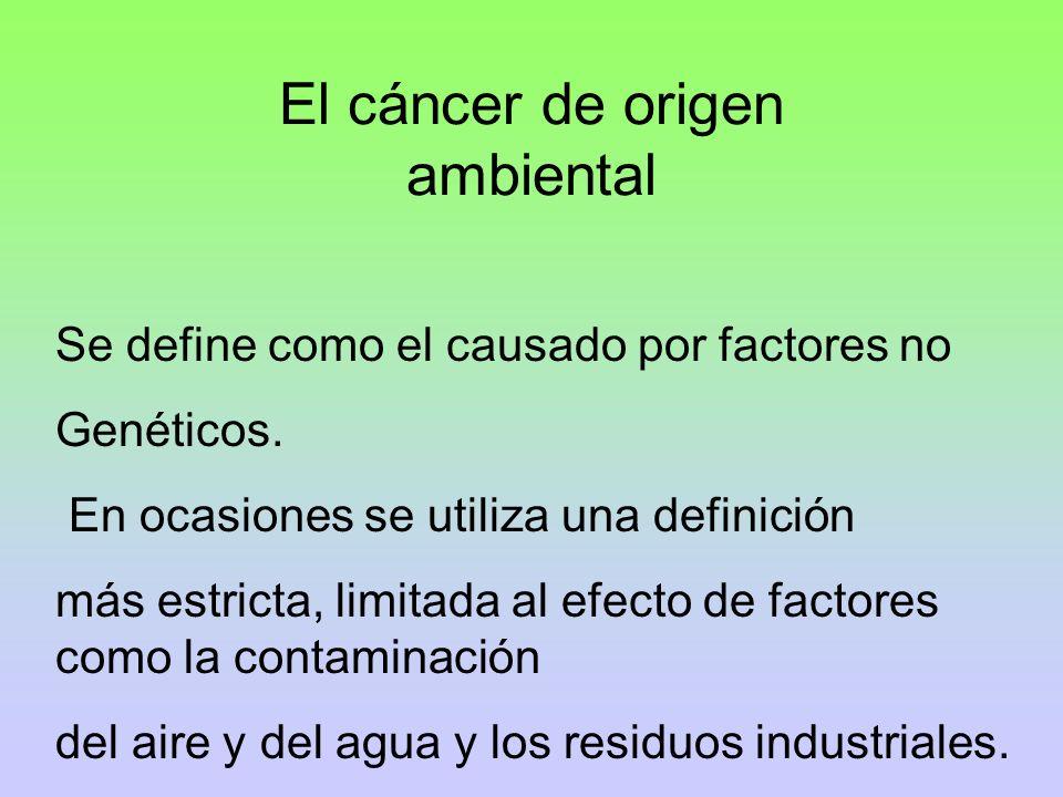 El cáncer de origen ambiental