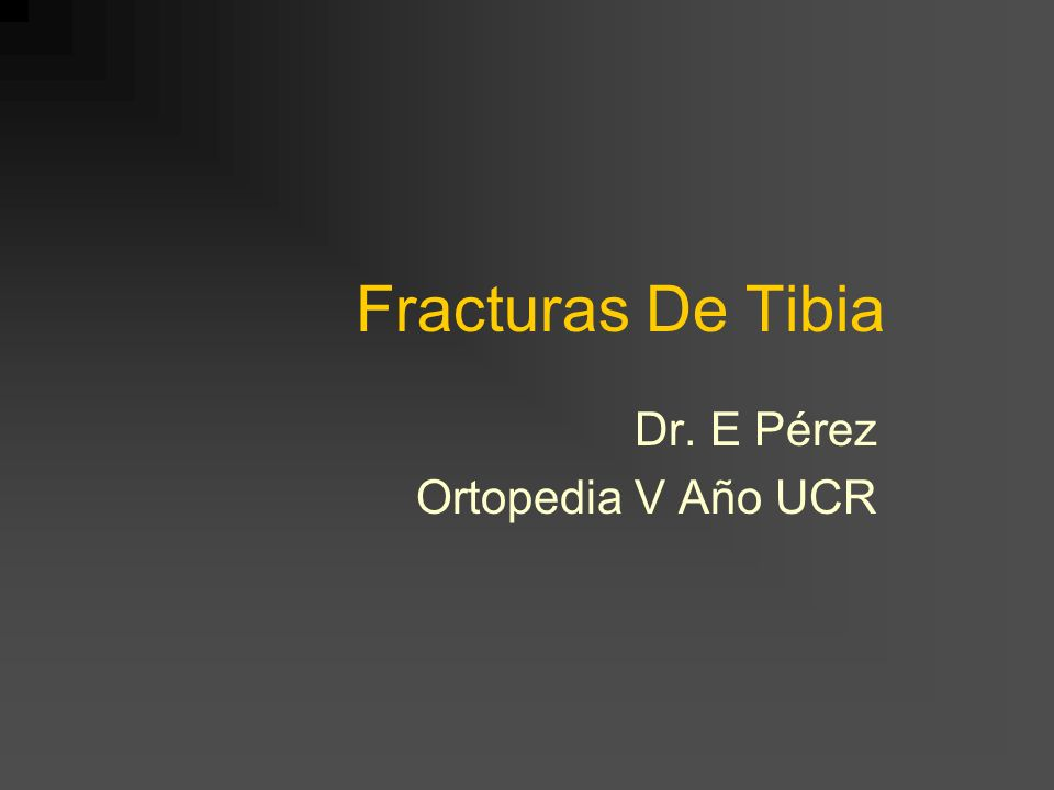 Dr. E Pérez Ortopedia V Año UCR