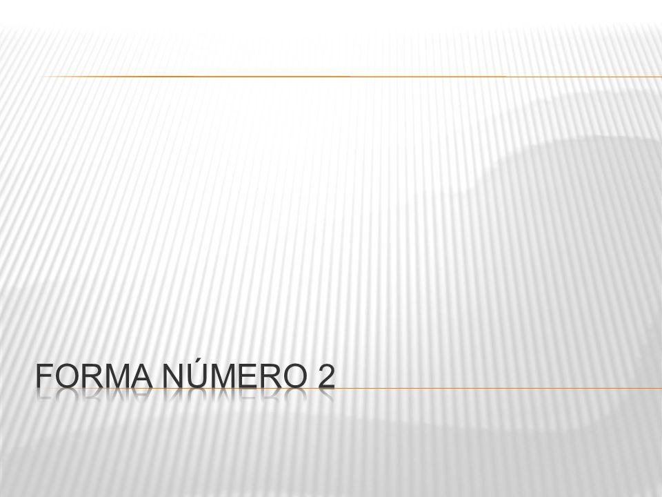 FORMA NÚMERO 2
