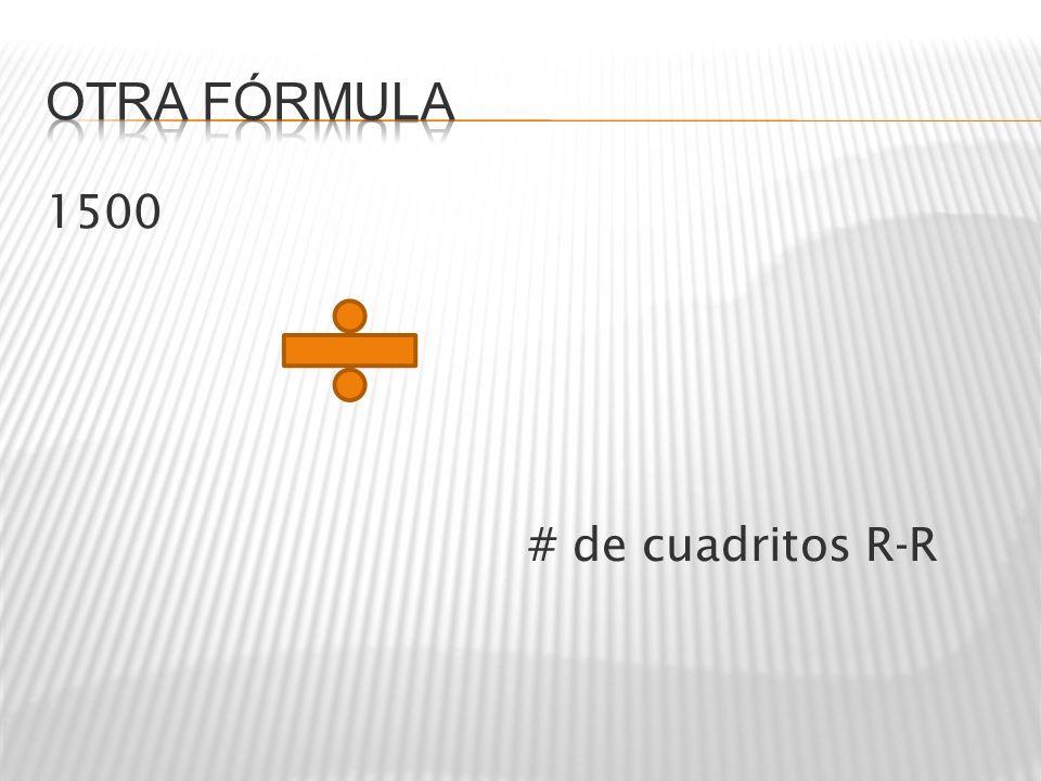 Otra fórmula 1500 # de cuadritos R-R