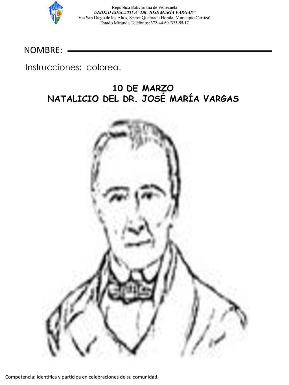 NOMBRE: 10 DE MARZO NATALICIO DEL DR. JOSÉ MARÍA VARGAS