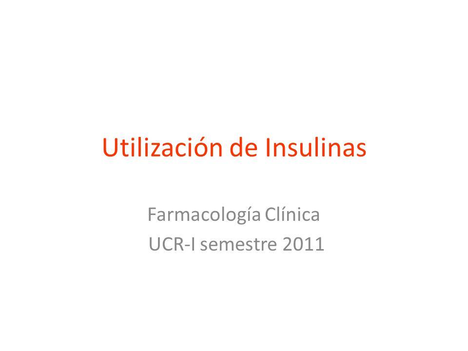 Utilización de Insulinas