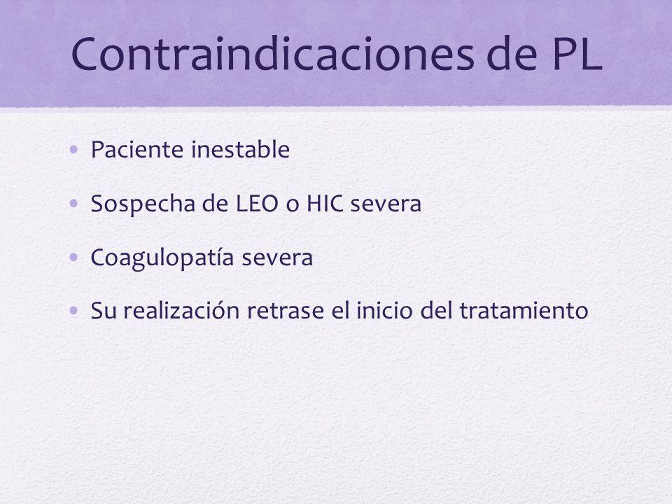 Contraindicaciones de PL