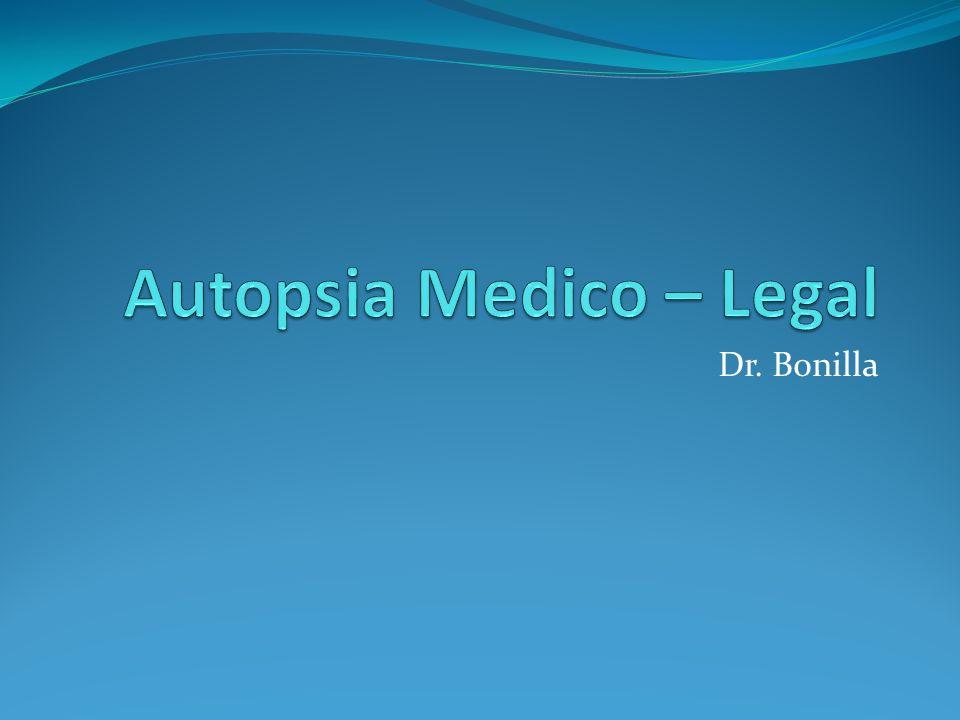Autopsia Medico – Legal