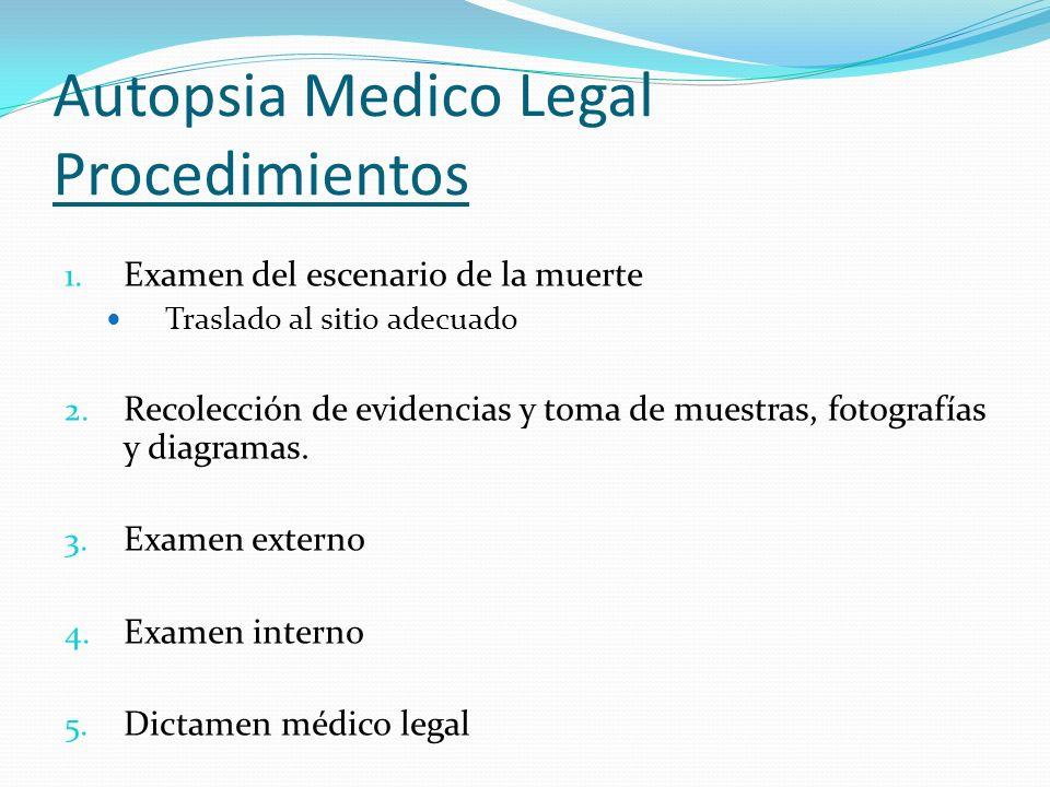 Autopsia Medico Legal Procedimientos