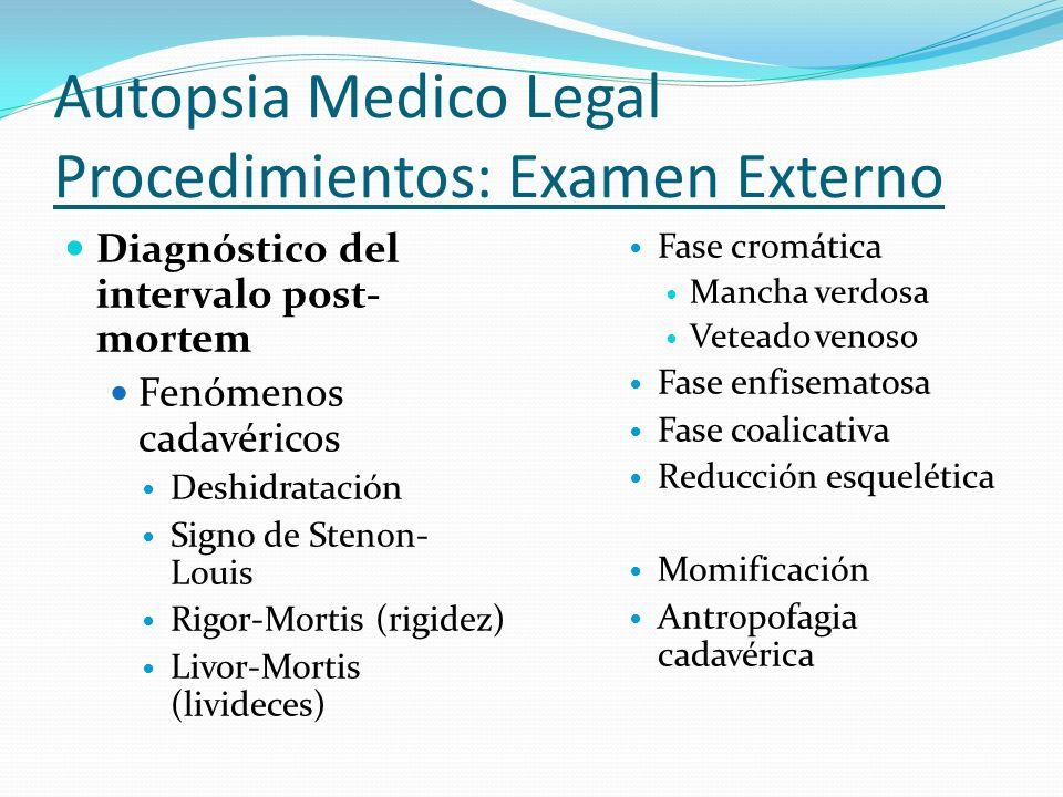 Autopsia Medico Legal Procedimientos: Examen Externo
