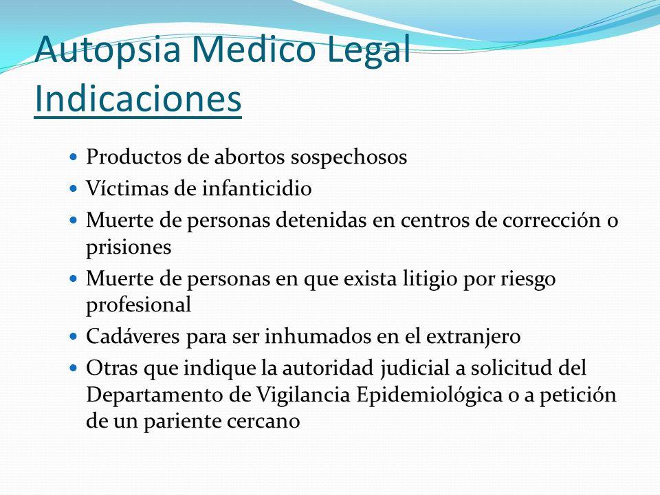 Autopsia Medico Legal Indicaciones