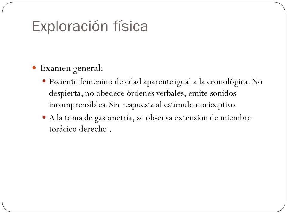 Exploración física Examen general:
