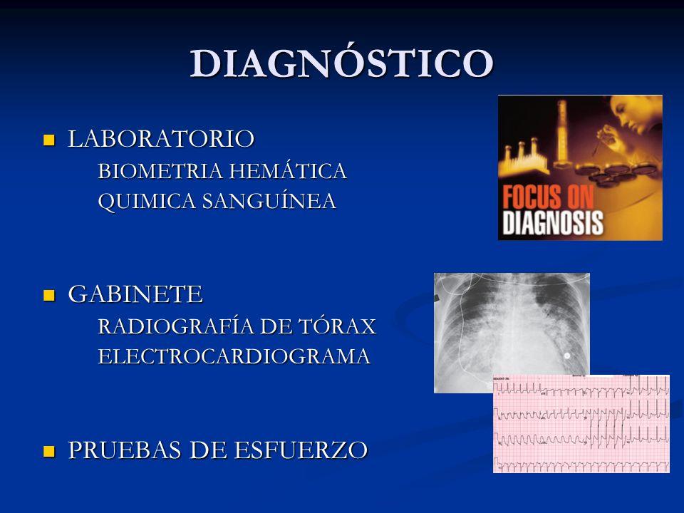 DIAGNÓSTICO LABORATORIO GABINETE PRUEBAS DE ESFUERZO