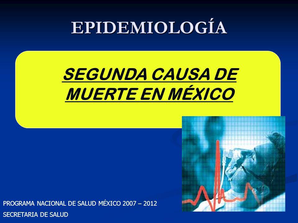 SEGUNDA CAUSA DE MUERTE EN MÉXICO