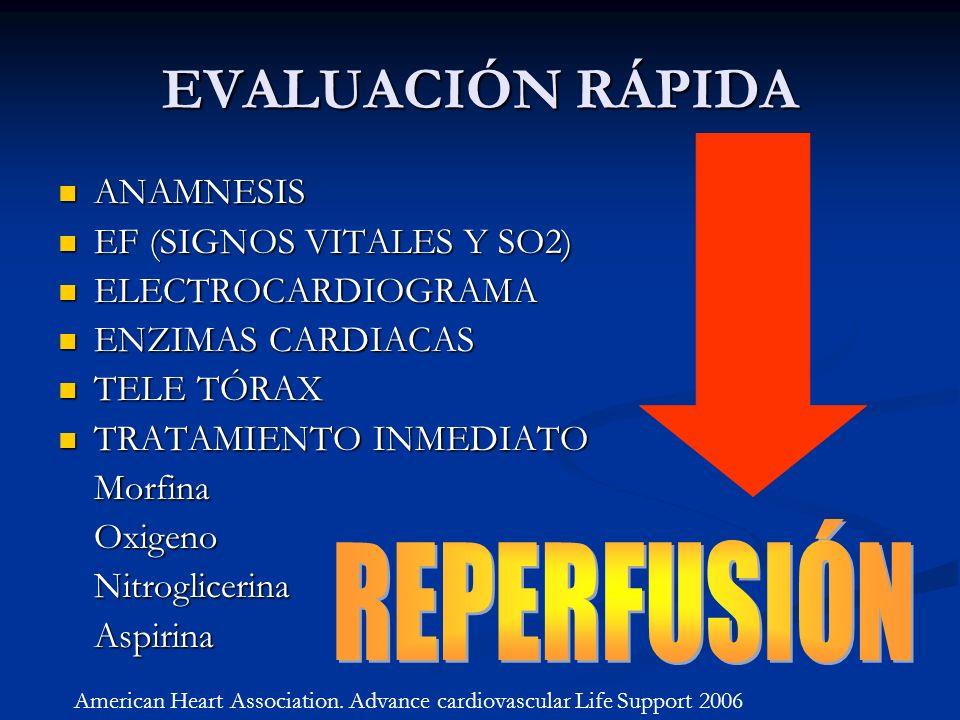 EVALUACIÓN RÁPIDA REPERFUSIÓN ANAMNESIS EF (SIGNOS VITALES Y SO2)