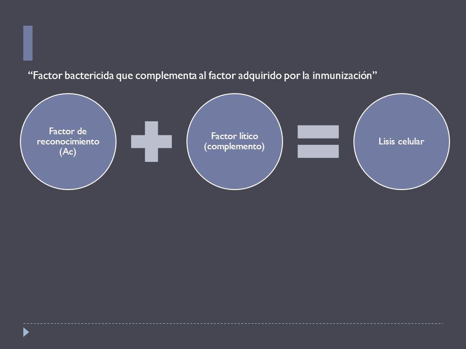 Factor de reconocimiento (Ac)
