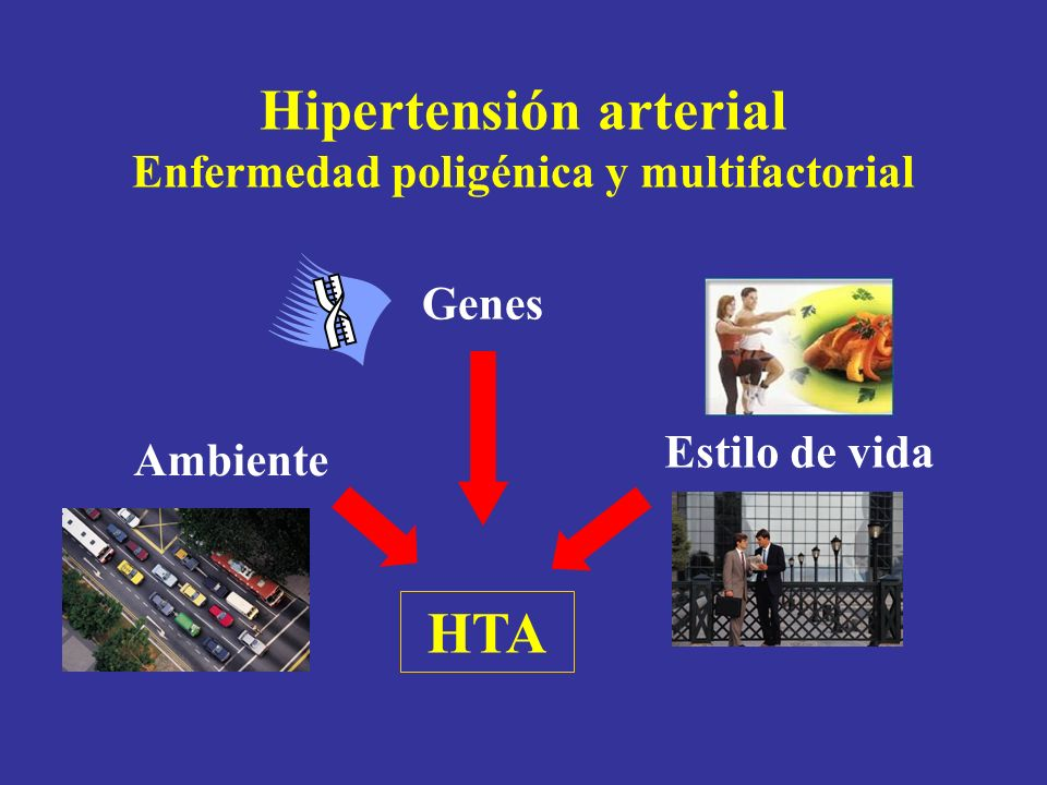 Hipertensión arterial Enfermedad poligénica y multifactorial