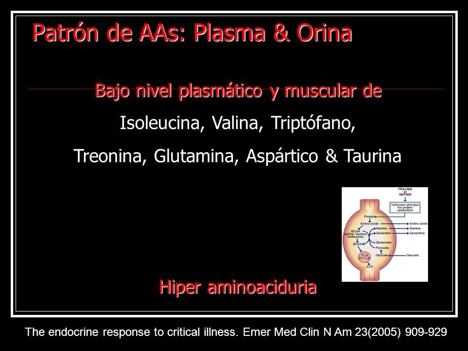 Patrón de AAs: Plasma & Orina
