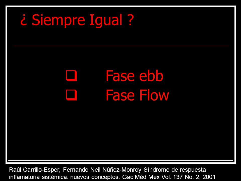¿ Siempre Igual Fase ebb Fase Flow