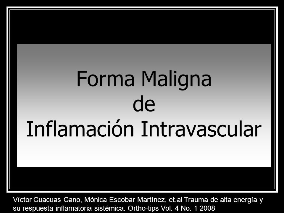 Inflamación Intravascular