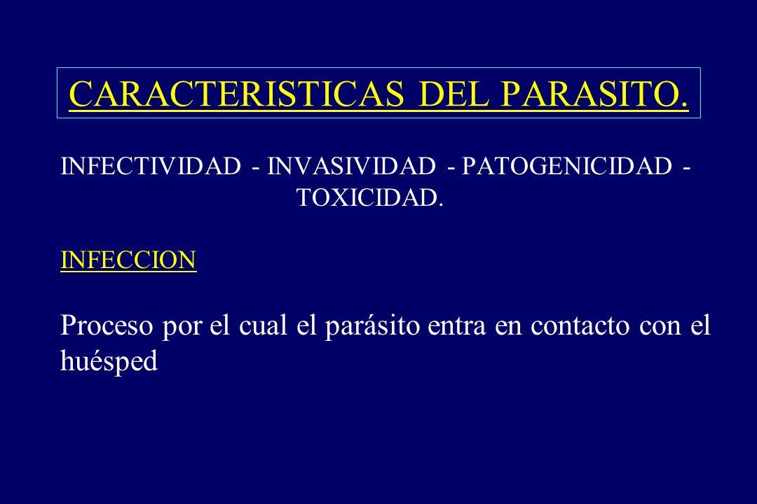 CARACTERISTICAS DEL PARASITO.