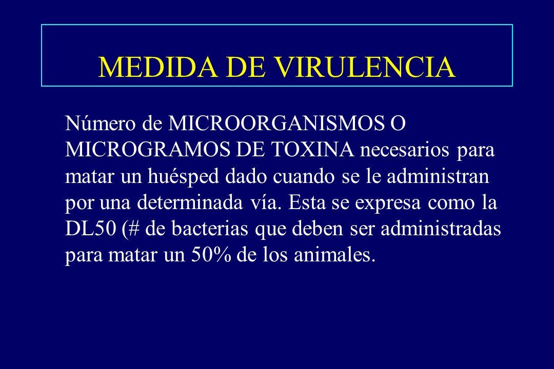 MEDIDA DE VIRULENCIA