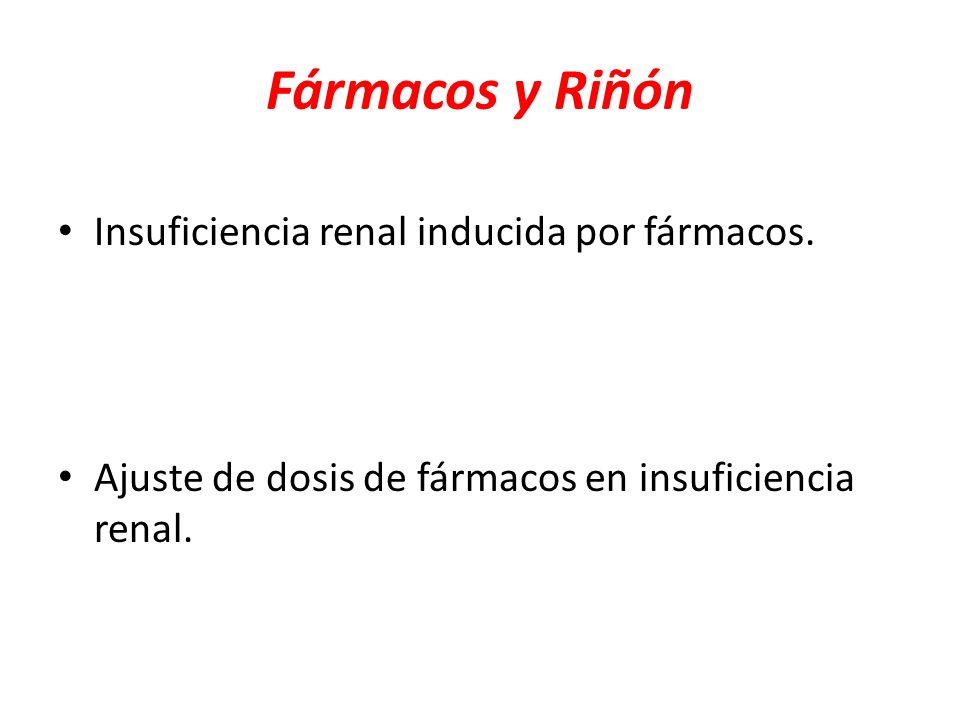 Fármacos y Riñón Insuficiencia renal inducida por fármacos.