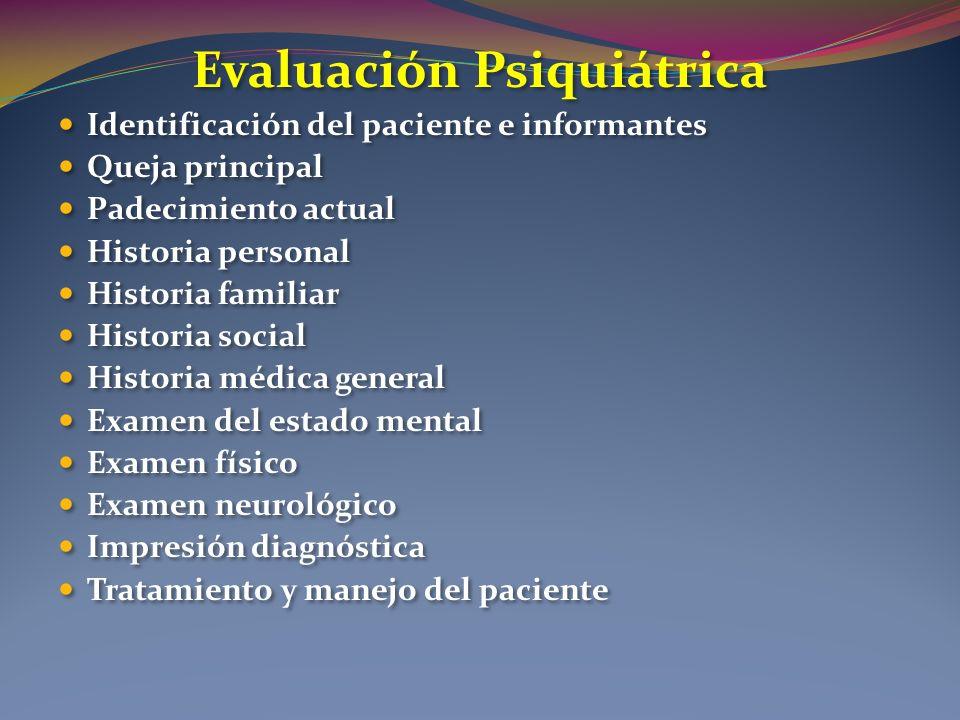 Evaluación Psiquiátrica