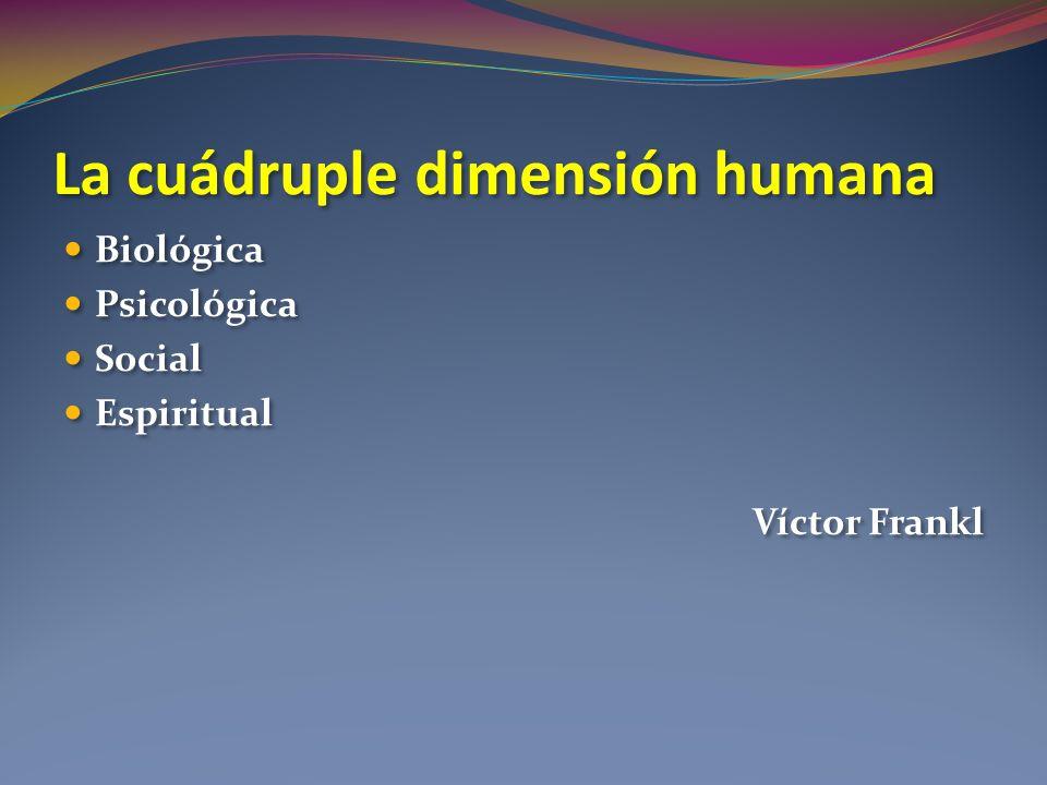La cuádruple dimensión humana