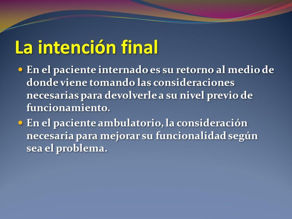 La intención final