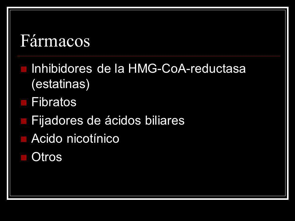 Fármacos Inhibidores de la HMG-CoA-reductasa (estatinas) Fibratos