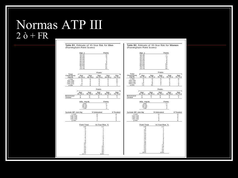 Normas ATP III 2 ò + FR