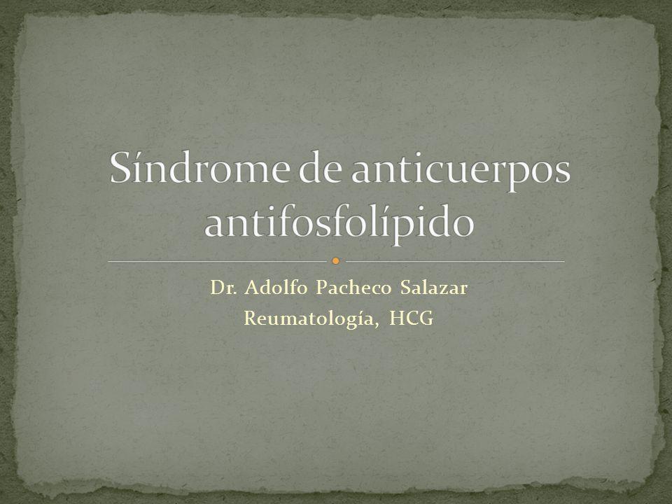Síndrome de anticuerpos antifosfolípido