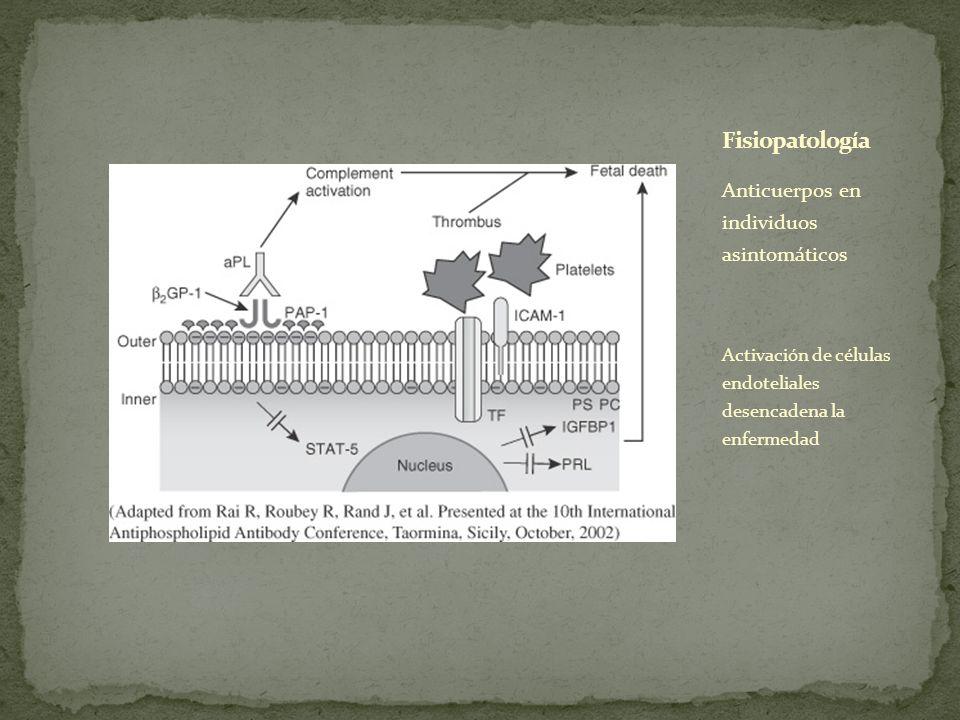 Fisiopatología Anticuerpos en individuos asintomáticos