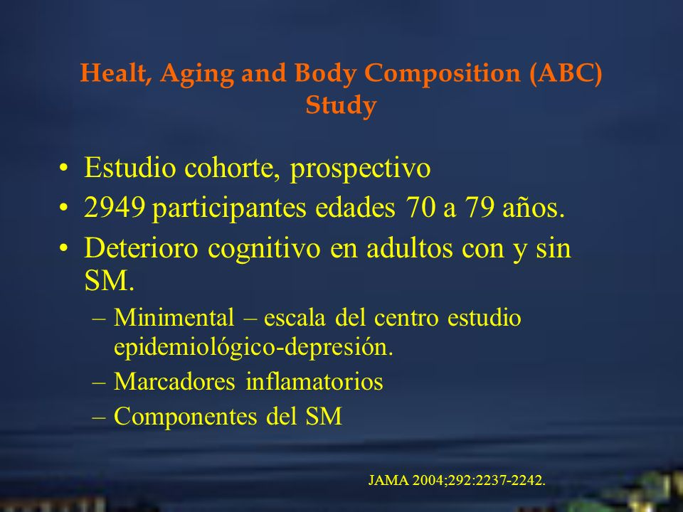 Healt, Aging and Body Composition (ABC) Study