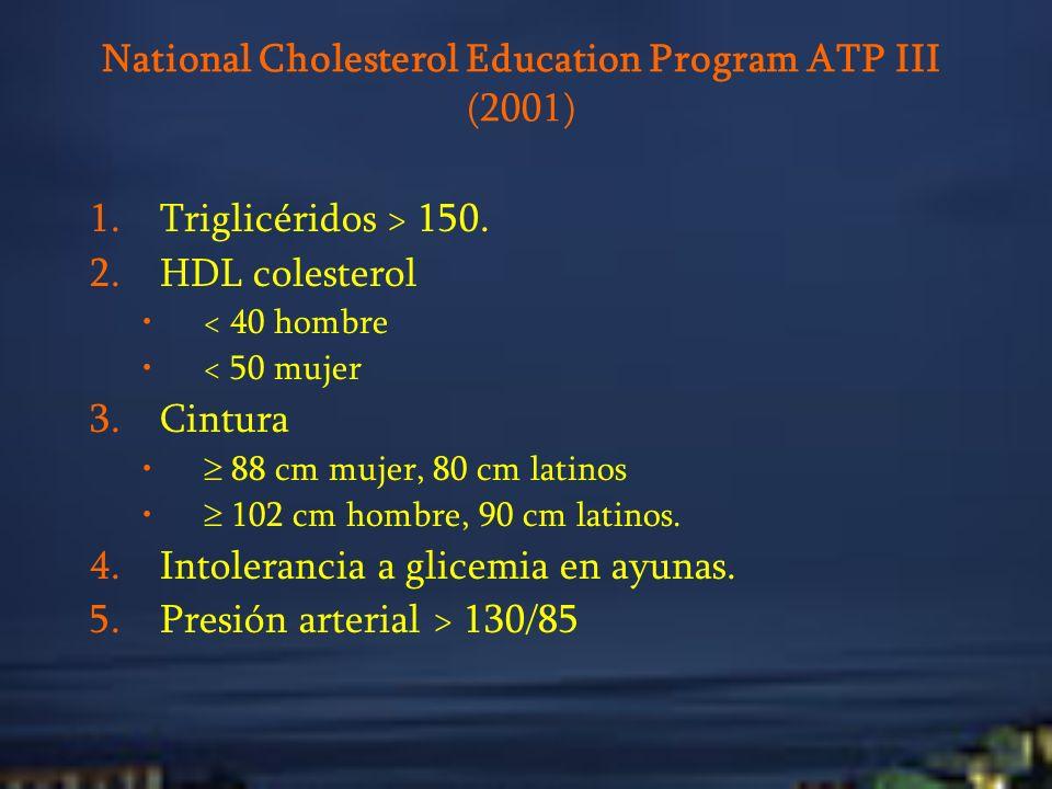 National Cholesterol Education Program ATP III (2001)
