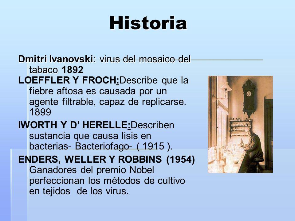 Historia Dmitri Ivanovski: virus del mosaico del tabaco 1892