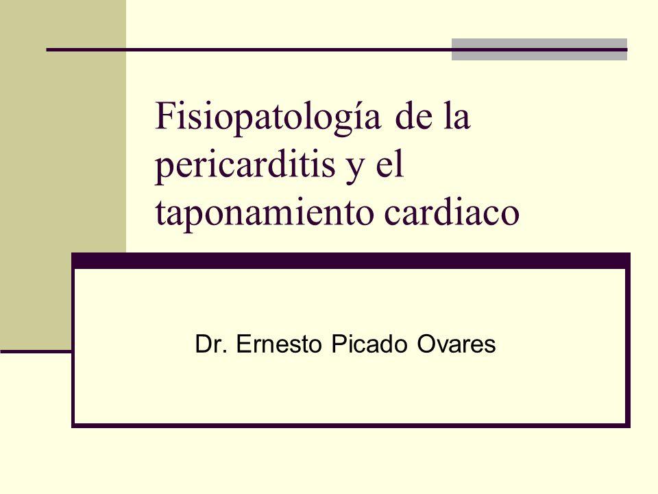 Fisiopatología de la pericarditis y el taponamiento cardiaco