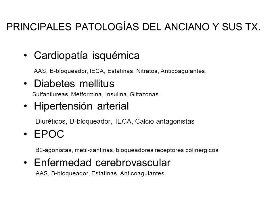 PRINCIPALES PATOLOGÍAS DEL ANCIANO Y SUS TX.