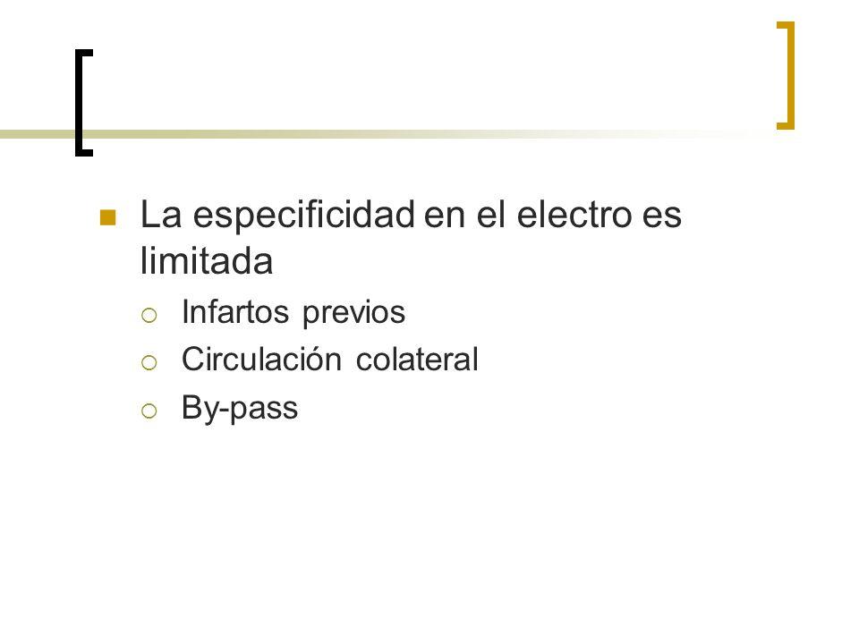 La especificidad en el electro es limitada