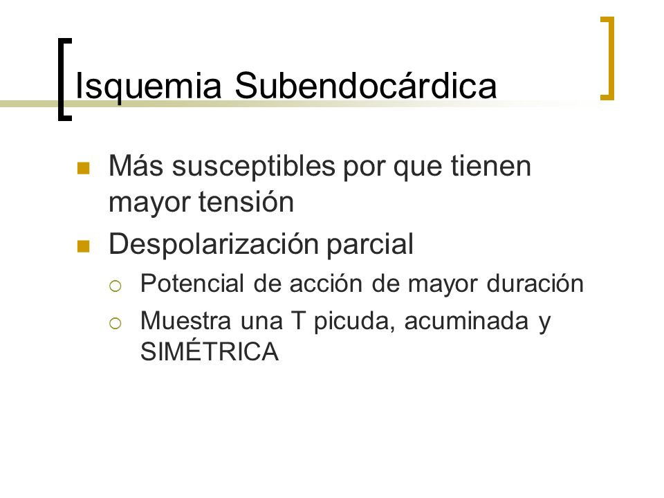 Isquemia Subendocárdica