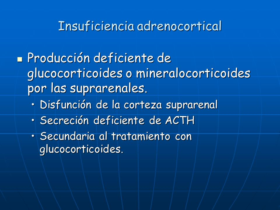 Insuficiencia adrenocortical