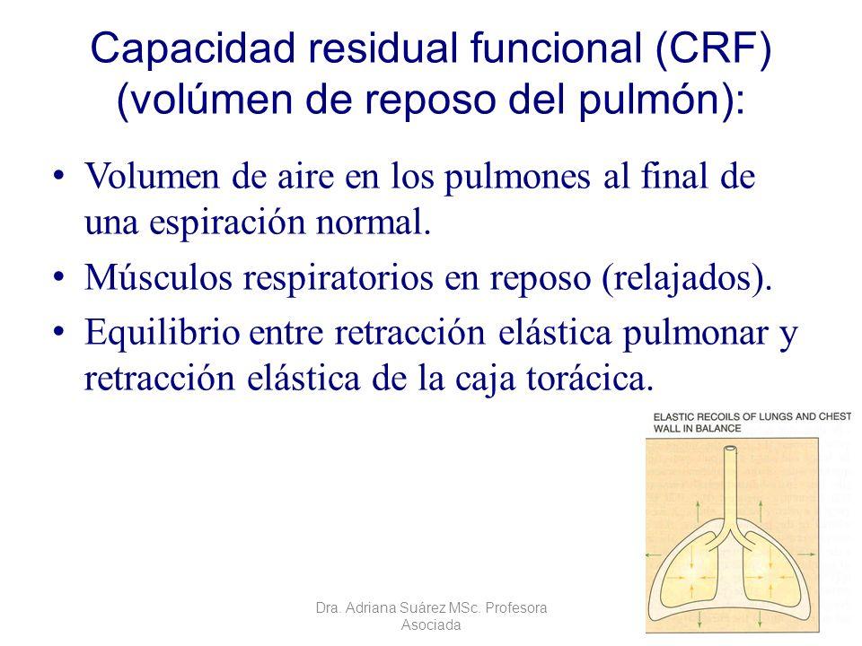 Capacidad residual funcional (CRF) (volúmen de reposo del pulmón):